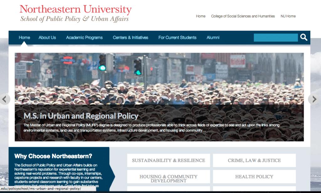 Northeastern School of Public Policy & Urban Affairs