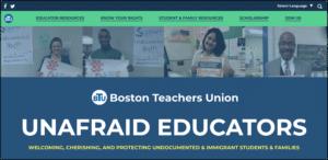 Screenshot of UnafraidEducators.orgq