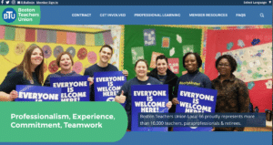 Homepage of Boston Teachers Union BTU
