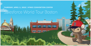 Logo for Salesforce World Tour Boston